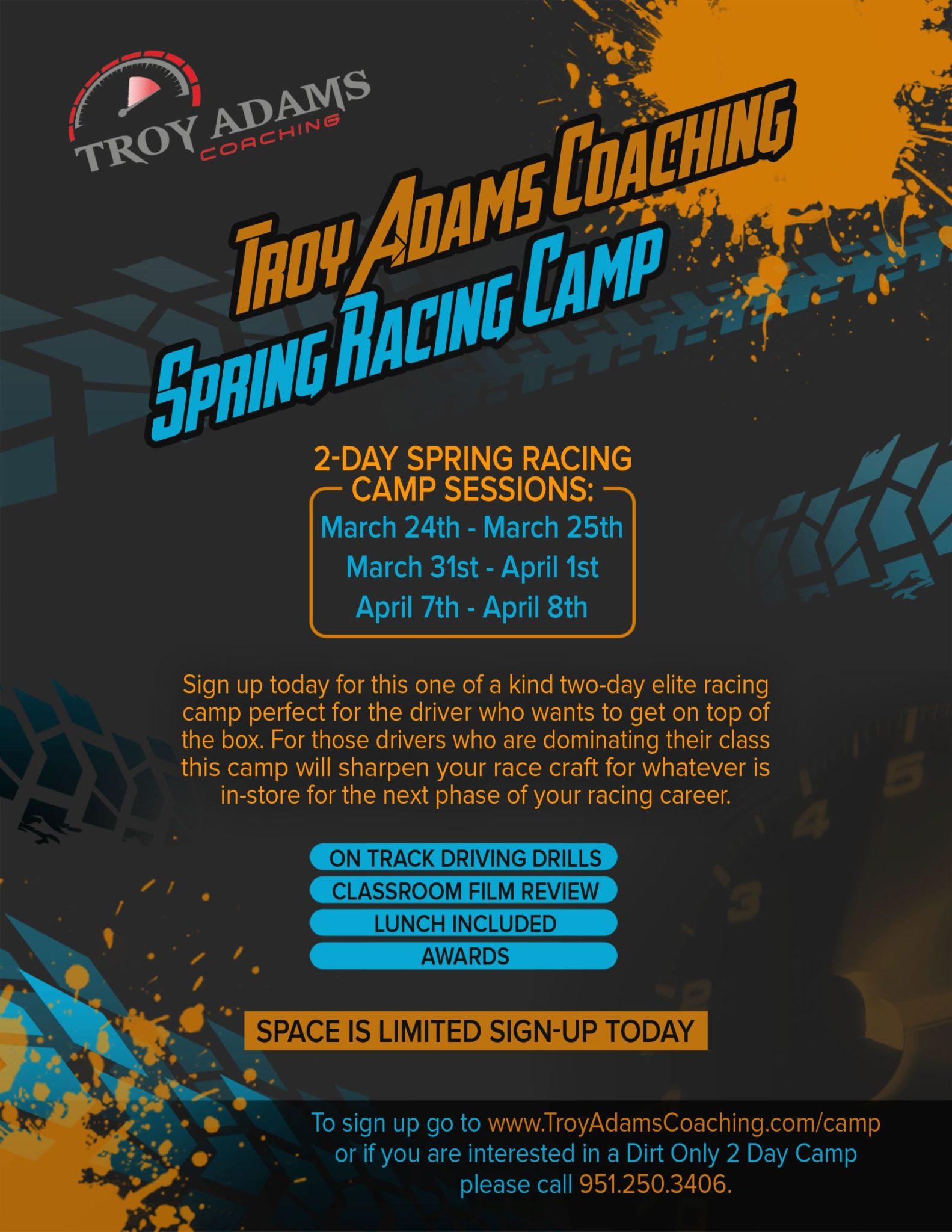 Spring Racing Camp